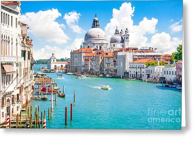 Accademia Greeting Cards - Idyllic Venice Greeting Card by JR Photography