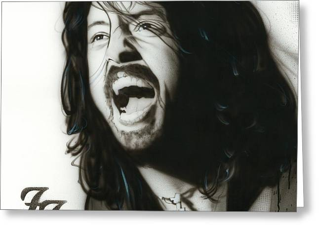 Dave Grohl Greeting Cards - If Everything Could Ever Feel this Real Forever Greeting Card by Christian Chapman Art
