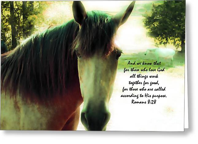 Tennessee Farm Digital Art Greeting Cards - If Horses Could Talk - Verse Greeting Card by Anita Faye