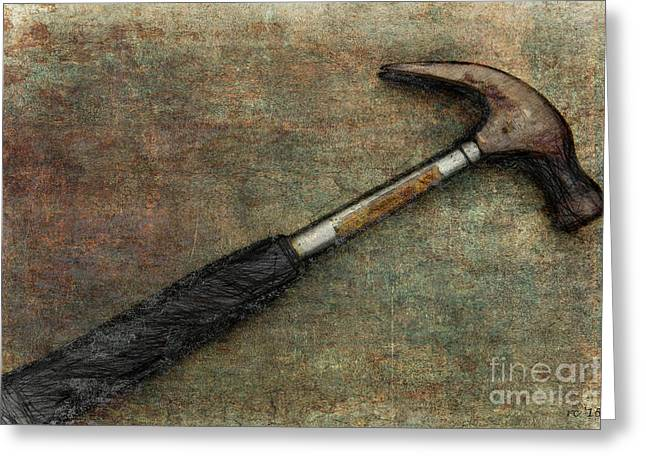 Tool Chest Greeting Cards - If I had a hammer... Greeting Card by Rene Crystal