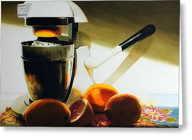 Super Realism Paintings Greeting Cards - If Life Gives You Lemons Greeting Card by Denny Bond