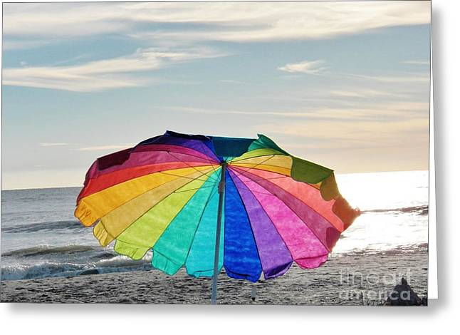 Judy Via-wolff Greeting Cards - If Life Were Just a Rainbow all the Time Greeting Card by Judy Via-Wolff