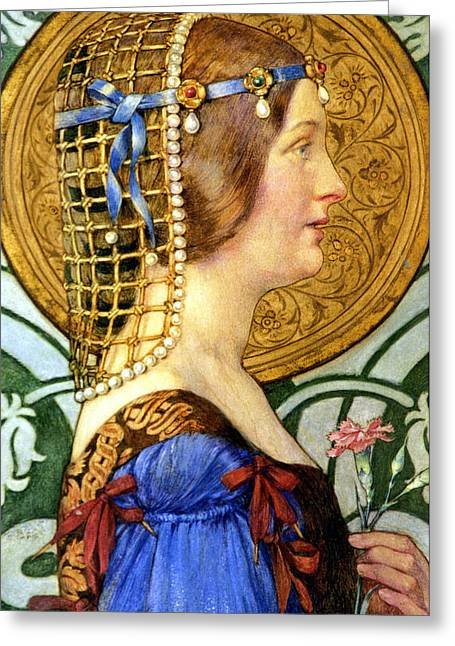 Historically Important Greeting Cards - If One Could Have That Little Head of Hers Greeting Card by Eleanor Fortescue Brickdale