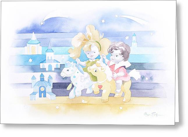 Star In Hand Greeting Cards - If someone turns on the stars... Greeting Card by Darya Tsaptsyna