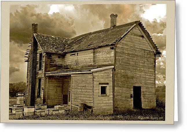 Haunted House Photographs Greeting Cards - If The House Is Rockin . . . Greeting Card by Everett Bowers