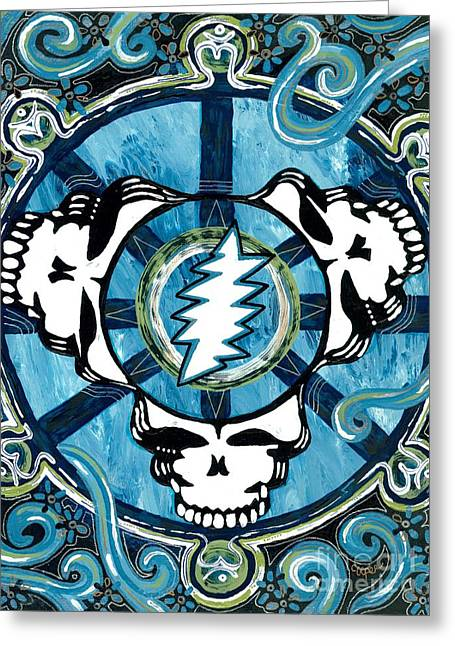 Grateful Dead Greeting Cards - If The Thunder Dont Get Ya Then The Lightnin Will Greeting Card by Kevin J Cooper Artwork
