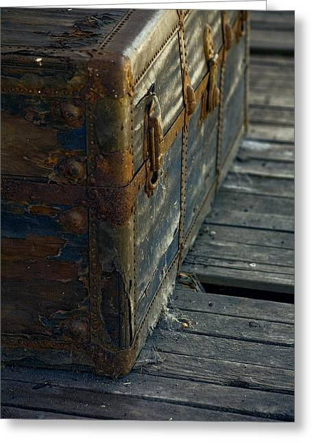 Vintage Trunk Greeting Cards - If This Old Trunk Could Talk Greeting Card by Bonnie Bruno