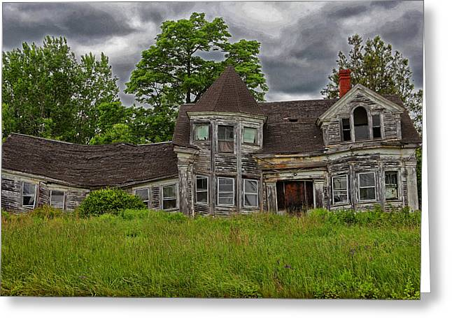 Old Maine Houses Greeting Cards - If Walls Could Talk Greeting Card by Karol  Livote