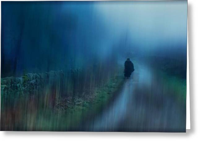 Sorrow Greeting Cards - If You are Leaving just Leave Greeting Card by Jenny Rainbow