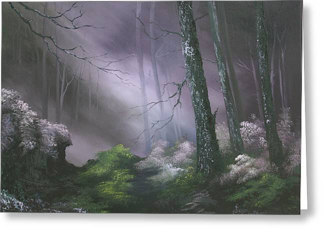Status Quo Greeting Cards - If You Go Down In The Woods Today ? Greeting Card by Jean Walker