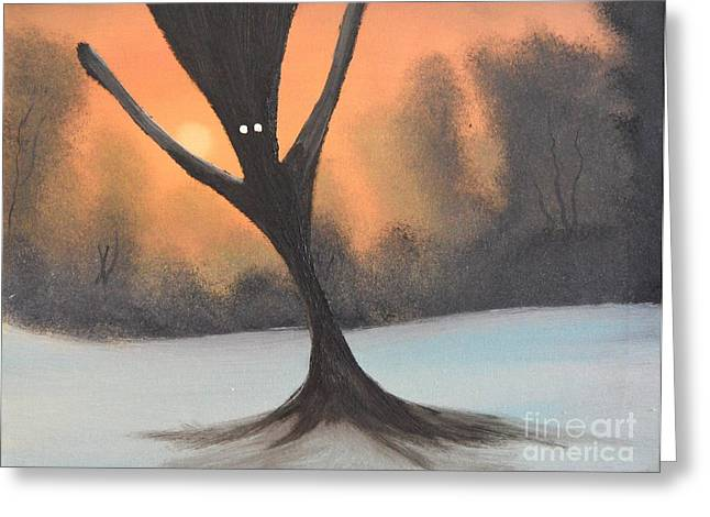 Recently Sold -  - Bob Ross Paintings Greeting Cards - If you go into the woods today Greeting Card by John Kemp