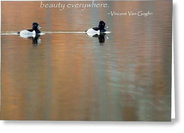 Water Fowl Greeting Cards - If You Truly Love Nature Square Greeting Card by Bill  Wakeley