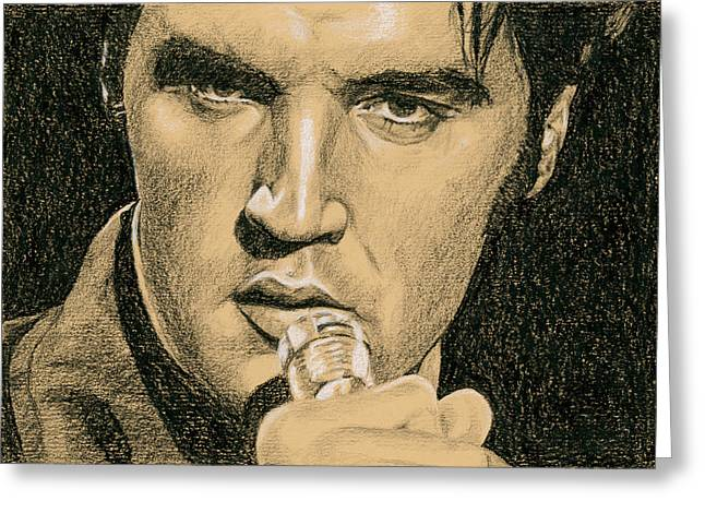 Elvis Presley Greeting Cards - If youre looking for Trouble Greeting Card by Rob De Vries