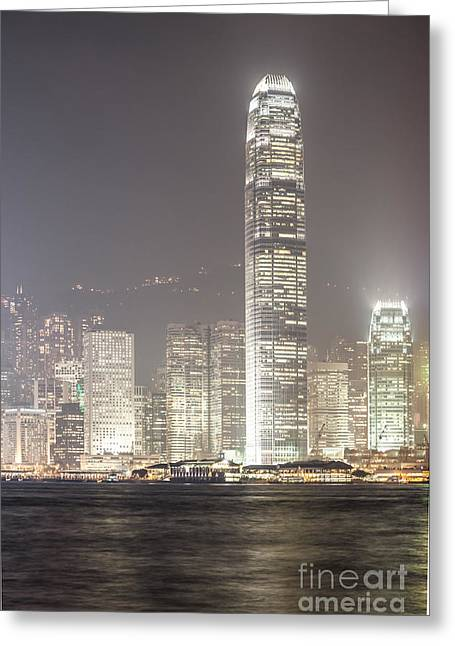 Kowloon Greeting Cards - IFC tower in Hong Kong Greeting Card by Matteo Colombo