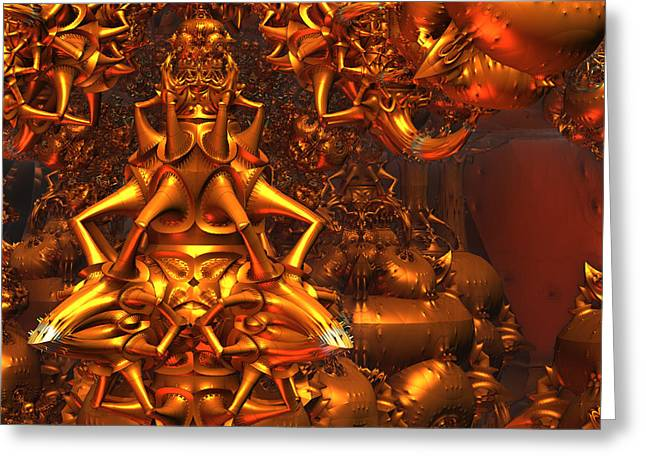 Mind-bending Greeting Cards - Ifrit Ex Machina Greeting Card by Jeff Iverson