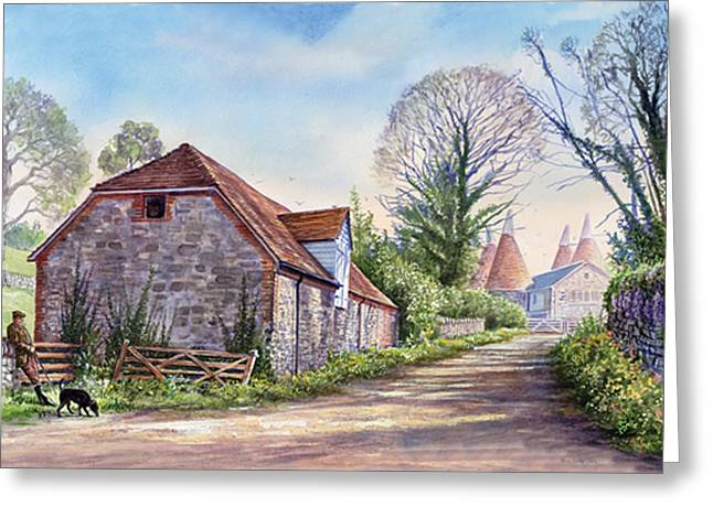 Crisp Greeting Cards - Ightham Path Greeting Card by Steve Crisp