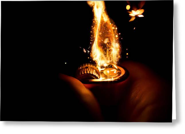 Glow Greeting Cards - Ignition Greeting Card by EXparte SE