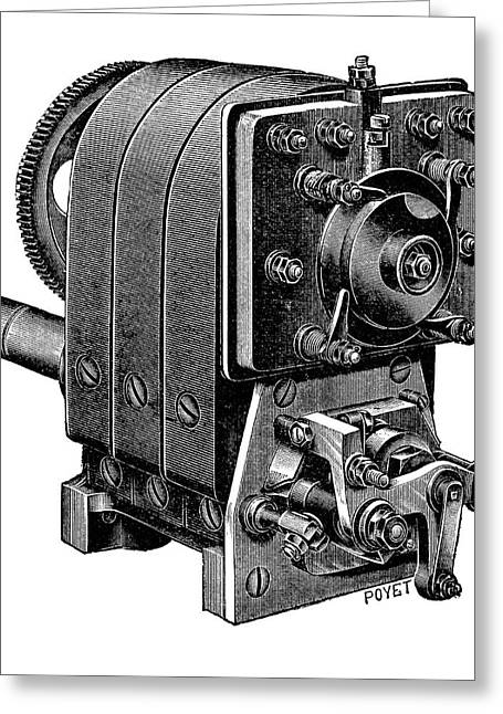 Ignition Magneto Greeting Card by Science Photo Library