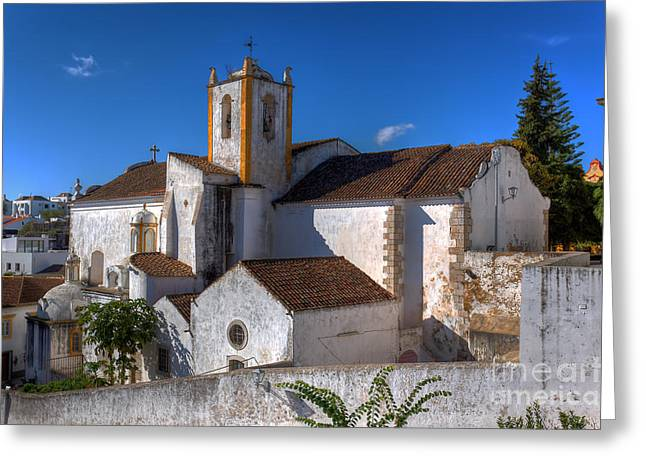 Tavira Greeting Cards - Igreja da Santiago Tavira Portugal Greeting Card by English Landscapes