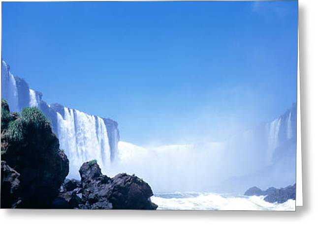 Hydroelectric Greeting Cards - Iguacu Falls, Parana, Brazil Greeting Card by Panoramic Images