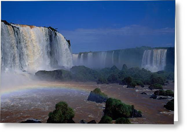 Strength Photographs Greeting Cards - Iguazu Falls, Argentina Greeting Card by Panoramic Images