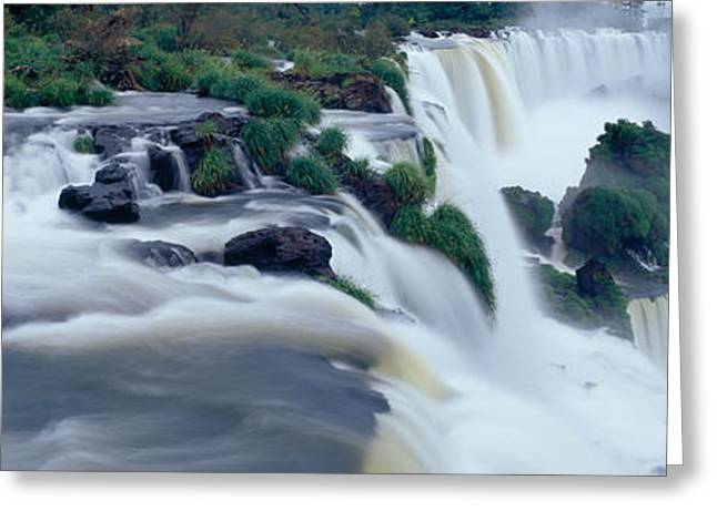 Descend Greeting Cards - Iguazu Falls, Iguazu National Park Greeting Card by Panoramic Images
