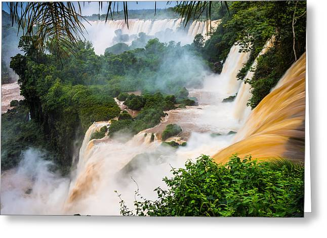 Picturesque Greeting Cards - Iguazu Natural Wonder Greeting Card by Inge Johnsson