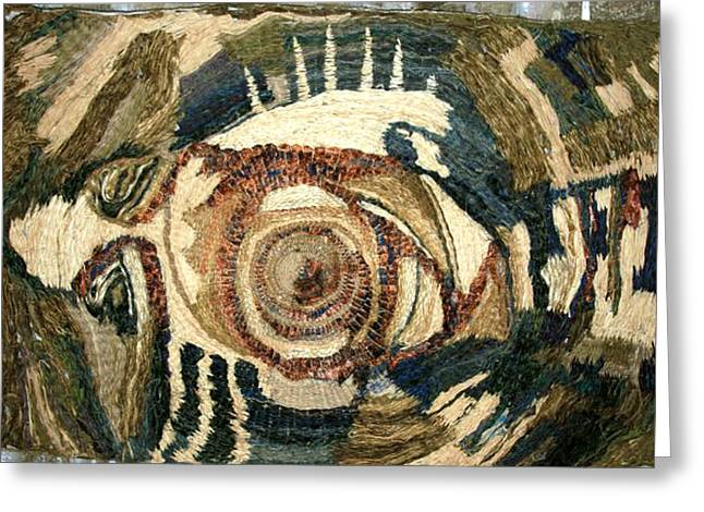 Mixed Tapestries - Textiles Greeting Cards - Ihtys Greeting Card by Miki Tatulescu