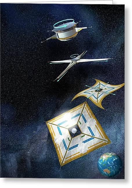 Ikaros Solar Sail Greeting Card by Henning Dalhoff
