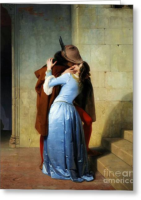 Hayez Greeting Cards - Il bacio Greeting Card by Reproduction