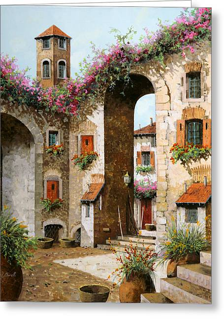Bell Tower Greeting Cards - Il Campanile Greeting Card by Guido Borelli
