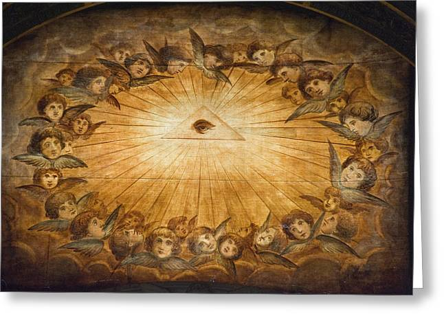 Italian Culture Greeting Cards - Il Gesu Ceiling Detail, Church Greeting Card by Panoramic Images