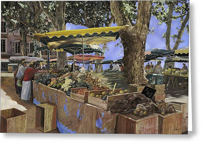 St Paul Greeting Cards - il mercato di St Paul Greeting Card by Guido Borelli