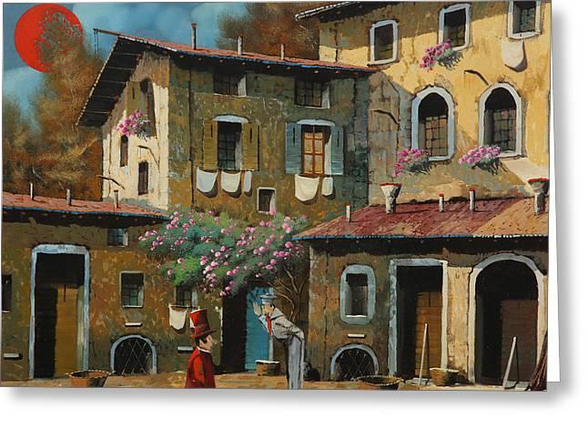Il Notaio E Il Marinaio Greeting Card by Guido Borelli