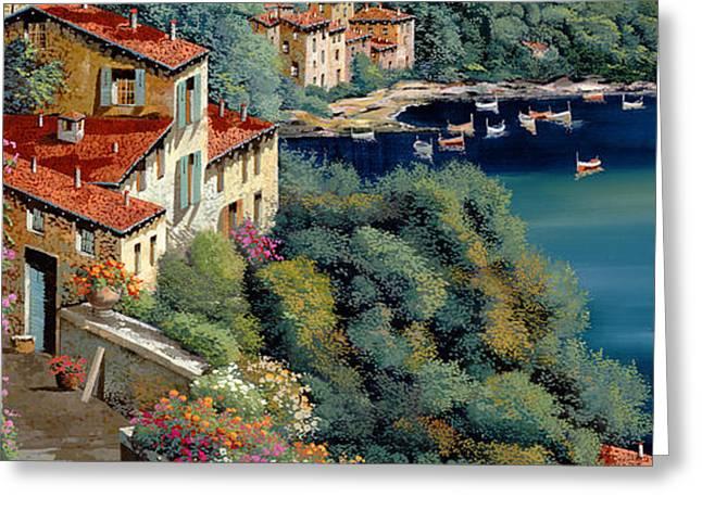il promontorio Greeting Card by Guido Borelli