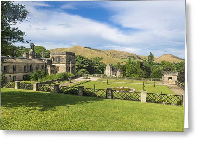 Historic Home Greeting Cards - Ilam Hall  Derbyshire UK Greeting Card by Moments In Time  Photography