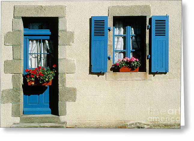 French Doors Greeting Cards - Ile De Batz, France Greeting Card by Explorer