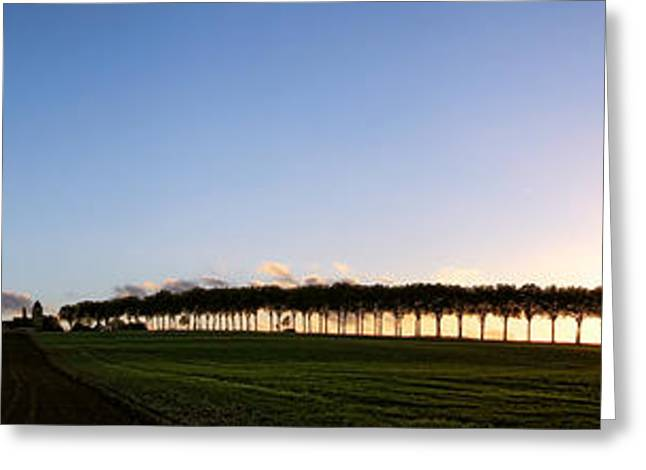 Ile de France Sunset Greeting Card by Olivier Le Queinec