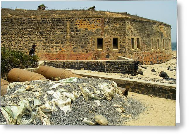 Geobob Greeting Cards - Ile Goree Fortress and Slave Entrepot Dakar Senegal West Africa Greeting Card by Robert Ford