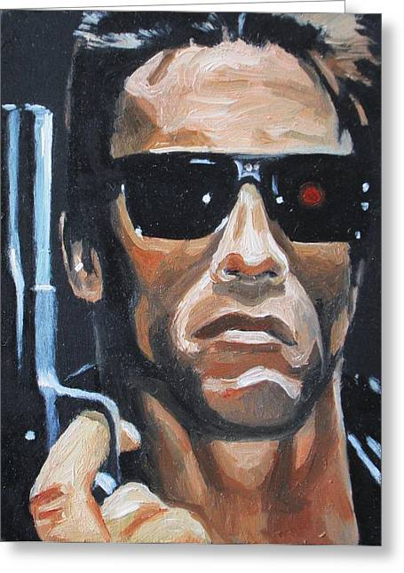 The Terminator Greeting Cards - Ill be back Greeting Card by Patrick Killian