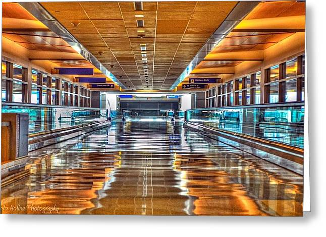 Airport Terminal Greeting Cards - Ill get there Greeting Card by Dado Molina