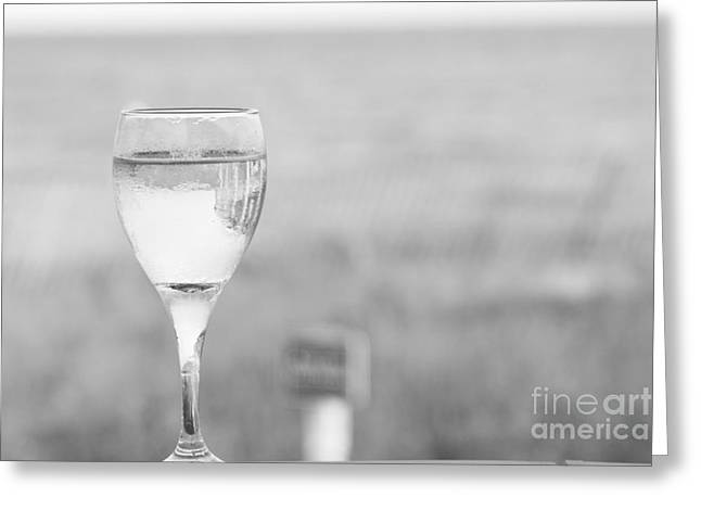 Champagne Glasses Greeting Cards - Ill have a Glass Greeting Card by Barbara Bardzik