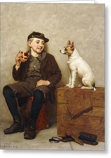 Companionship Greeting Cards - Ill Share With You Greeting Card by John George Brown