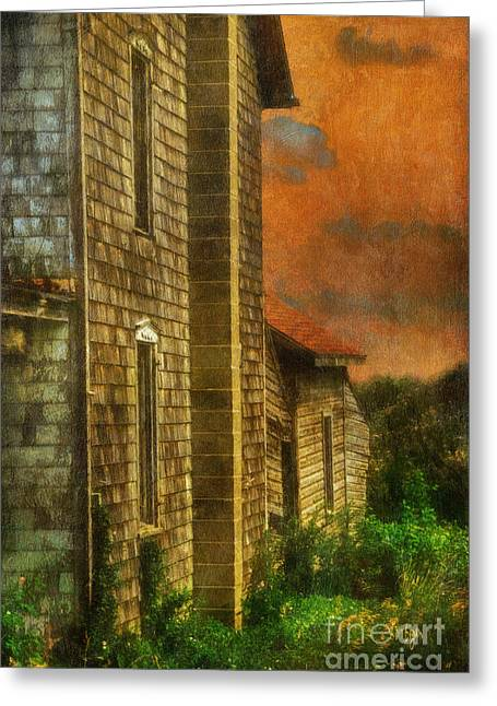 Dilapidated Houses Greeting Cards - Ill Take Everything - Painterly Version Greeting Card by Lois Bryan
