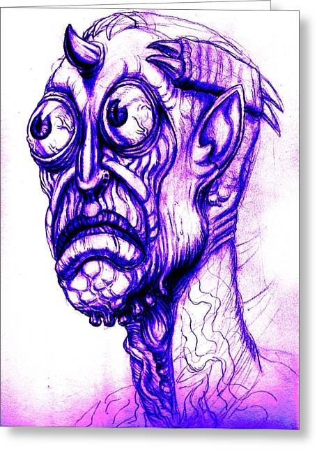 Flash Drawings Greeting Cards - Illegal Alien Greeting Card by  Joya