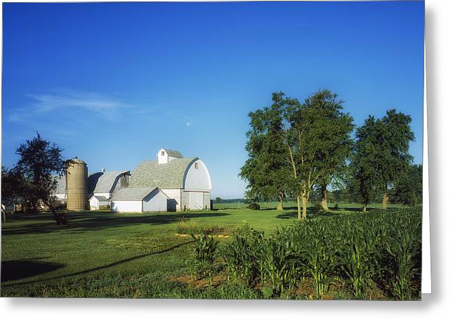 Illinois Barns Photographs Greeting Cards - Illinois Farm Greeting Card by Mountain Dreams