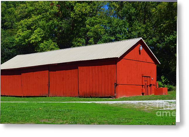 Illinois Red Barn Greeting Card by Luther   Fine Art