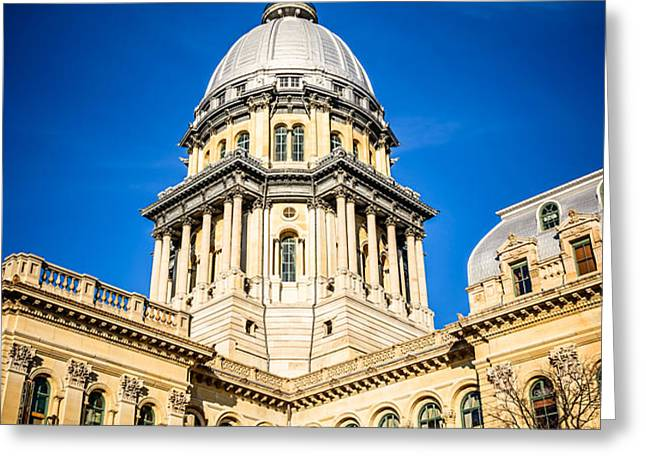 Illinois State Capitol in Springfield Illinois Greeting Card by Paul Velgos