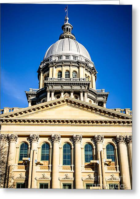 Capitol Greeting Cards - Illinois State Capitol in Springfield Greeting Card by Paul Velgos