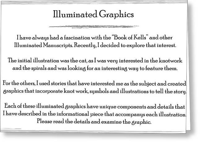 Illuminated Graphics Info Greeting Card by Michael Lee